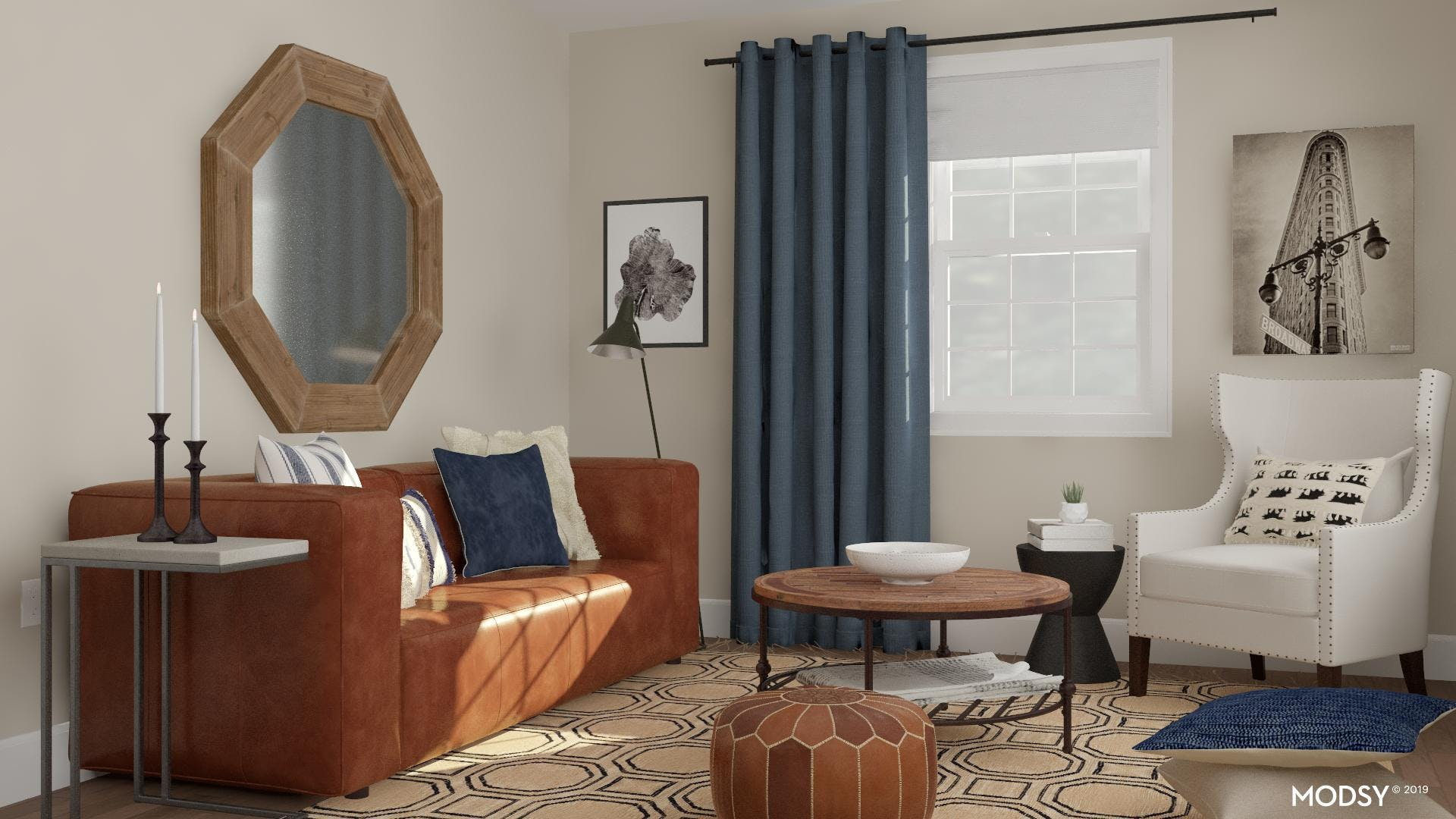 An Eclectic Yet Refined Living Room