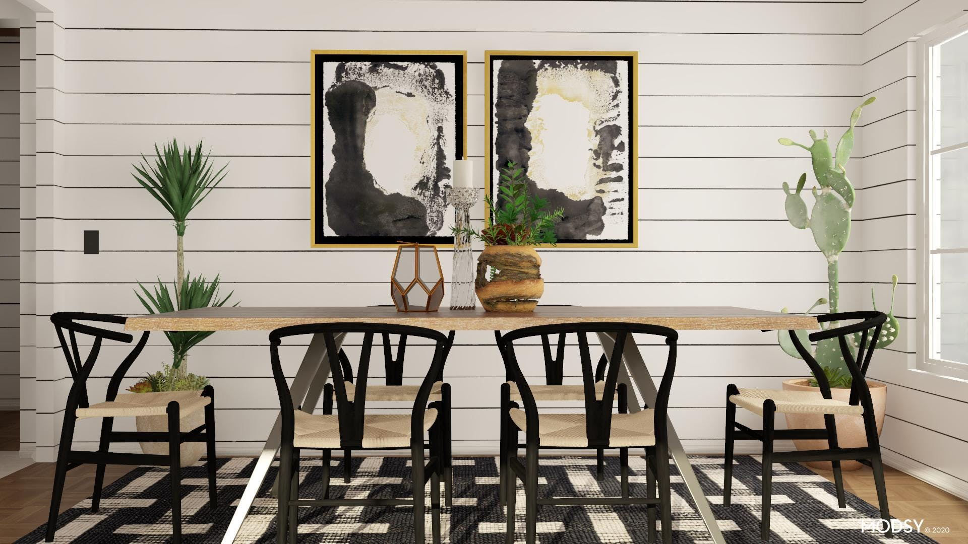 Black and White, Eclectic Dining Room