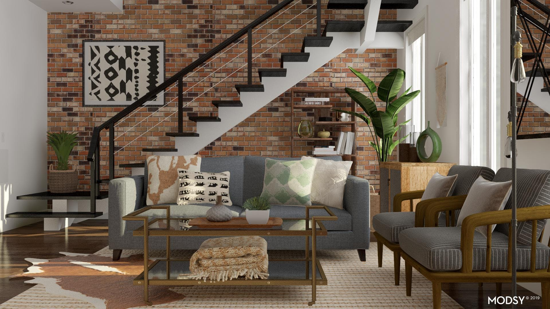 Industrial Living Room Full of Character