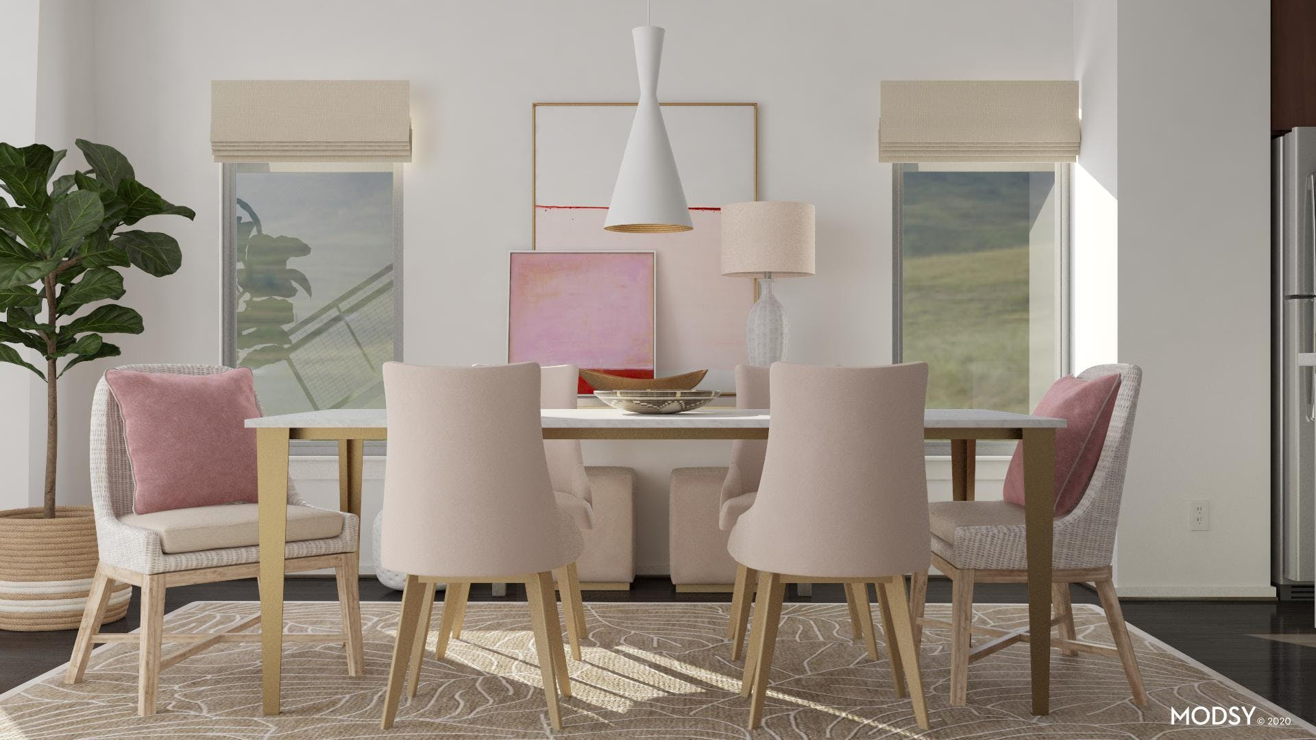 Pretty In Pink: Pastel Dining Room