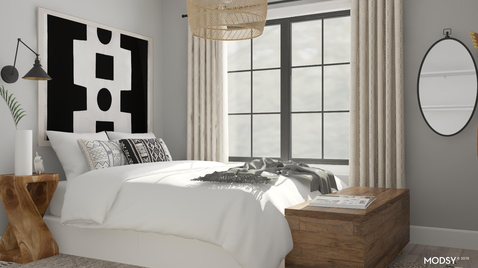 Exciting Black and White Bedroom