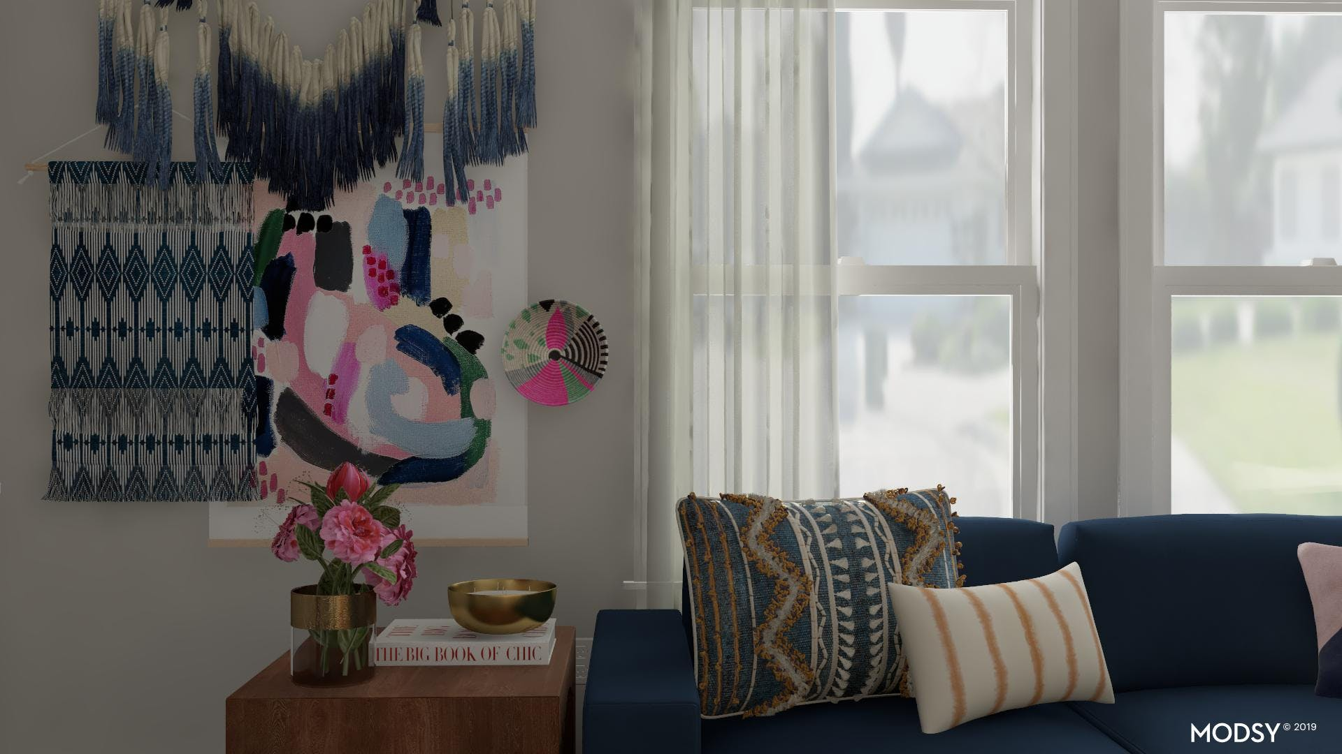 Families Love This Eclectic Blue Living