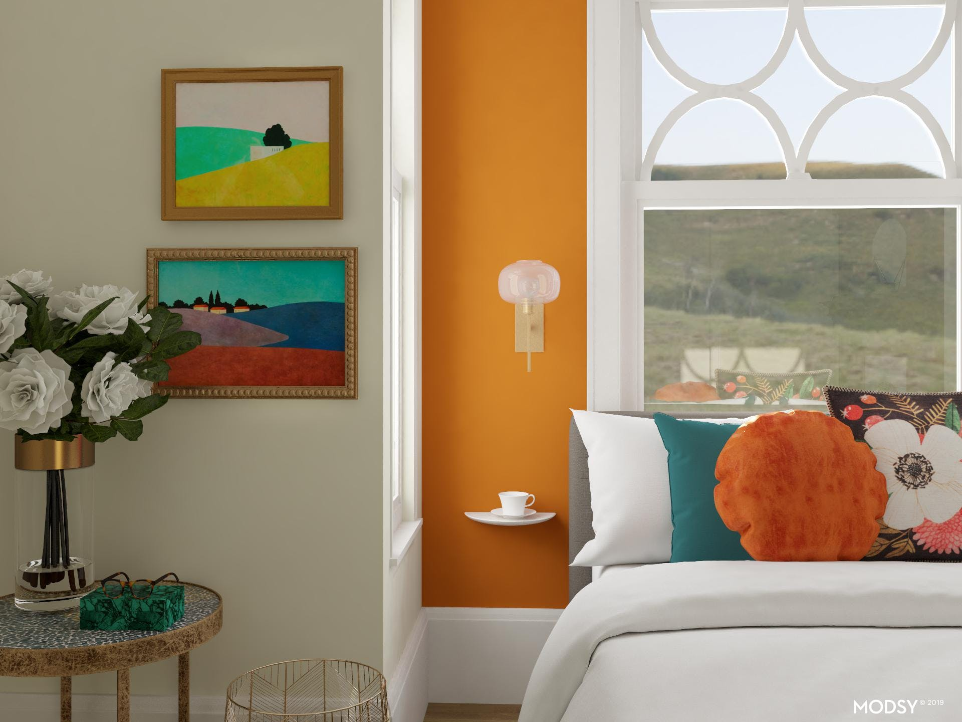 Cozy up and Stay a While in this Colorful Guest Bedroom