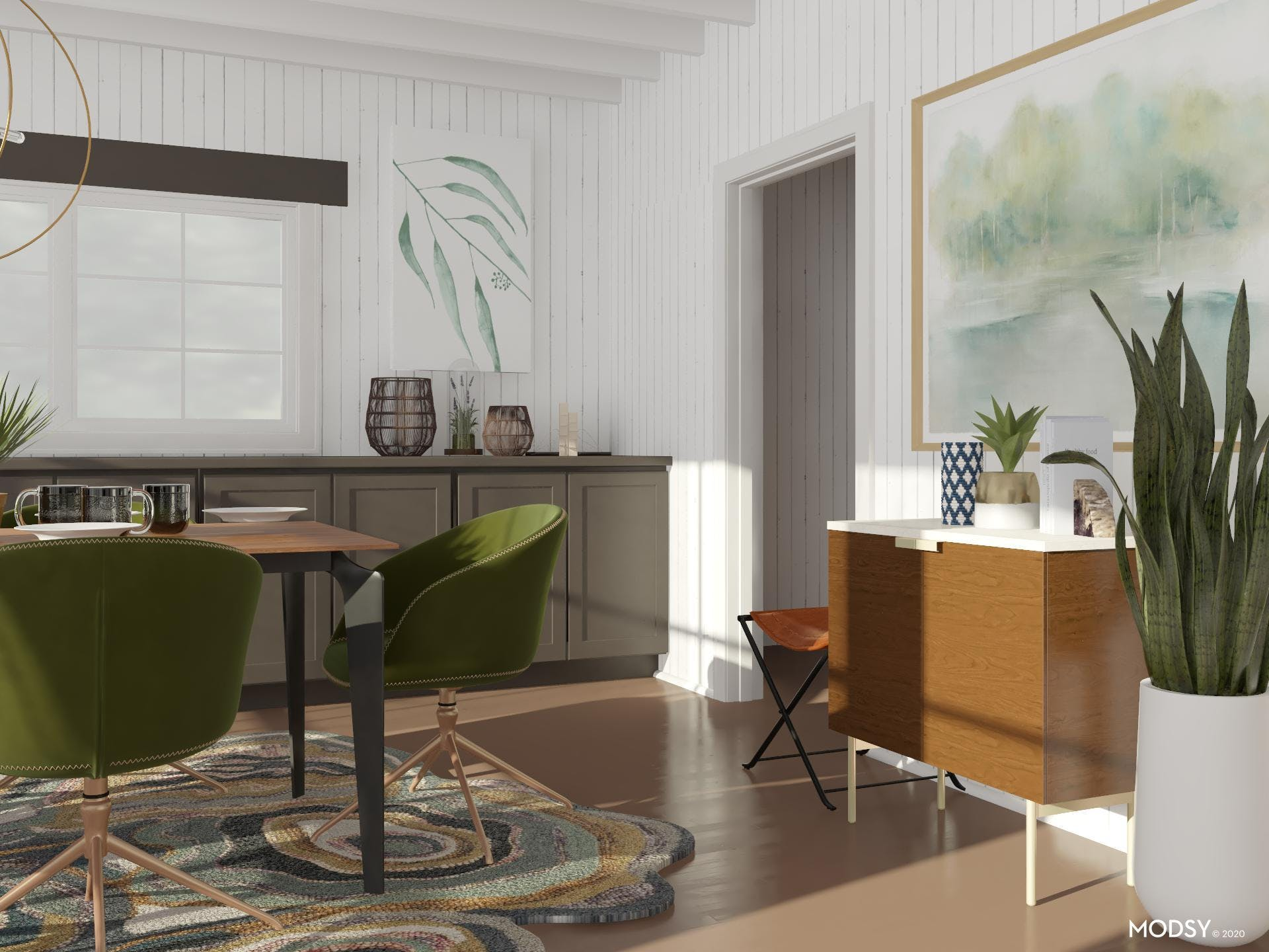 Mid-Century Green Accents