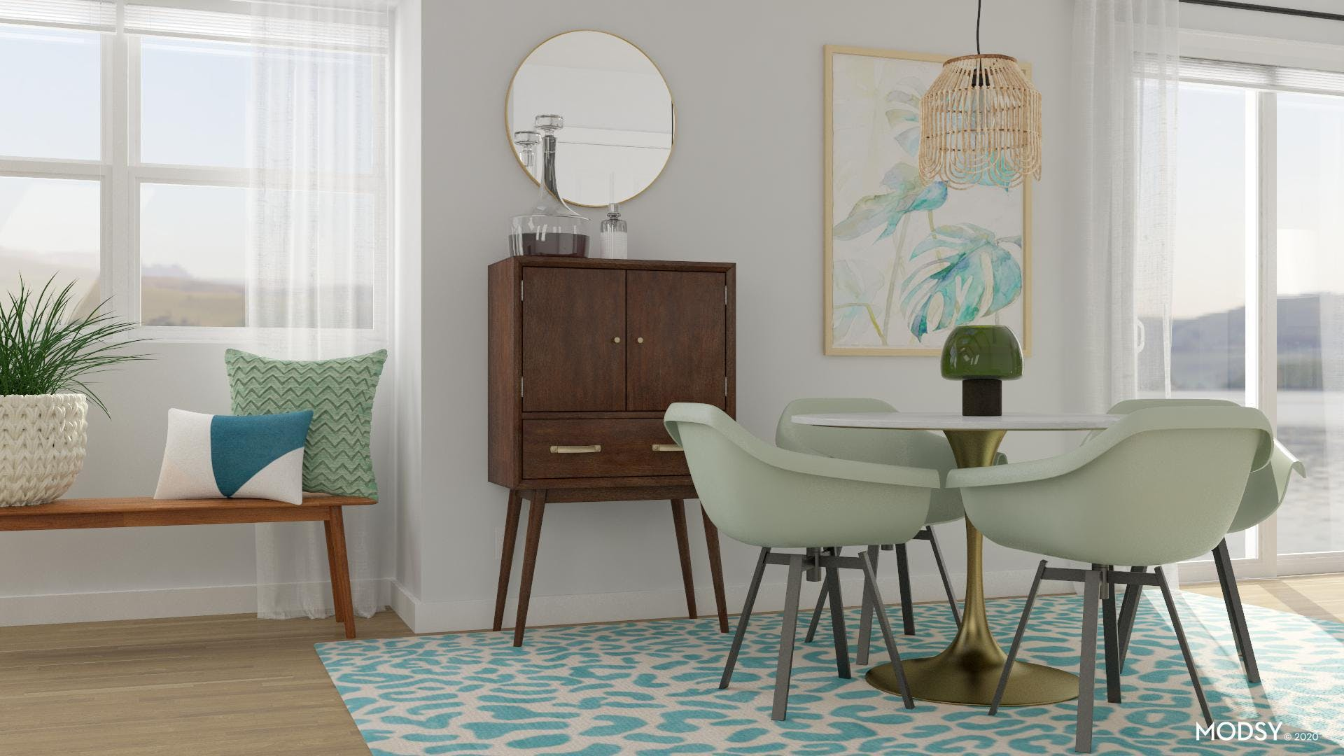 A Chic Mid-Century Modern Dining Room