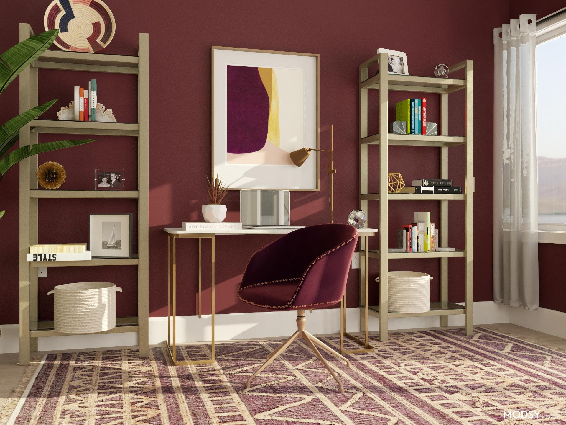 Glam Home Office Design