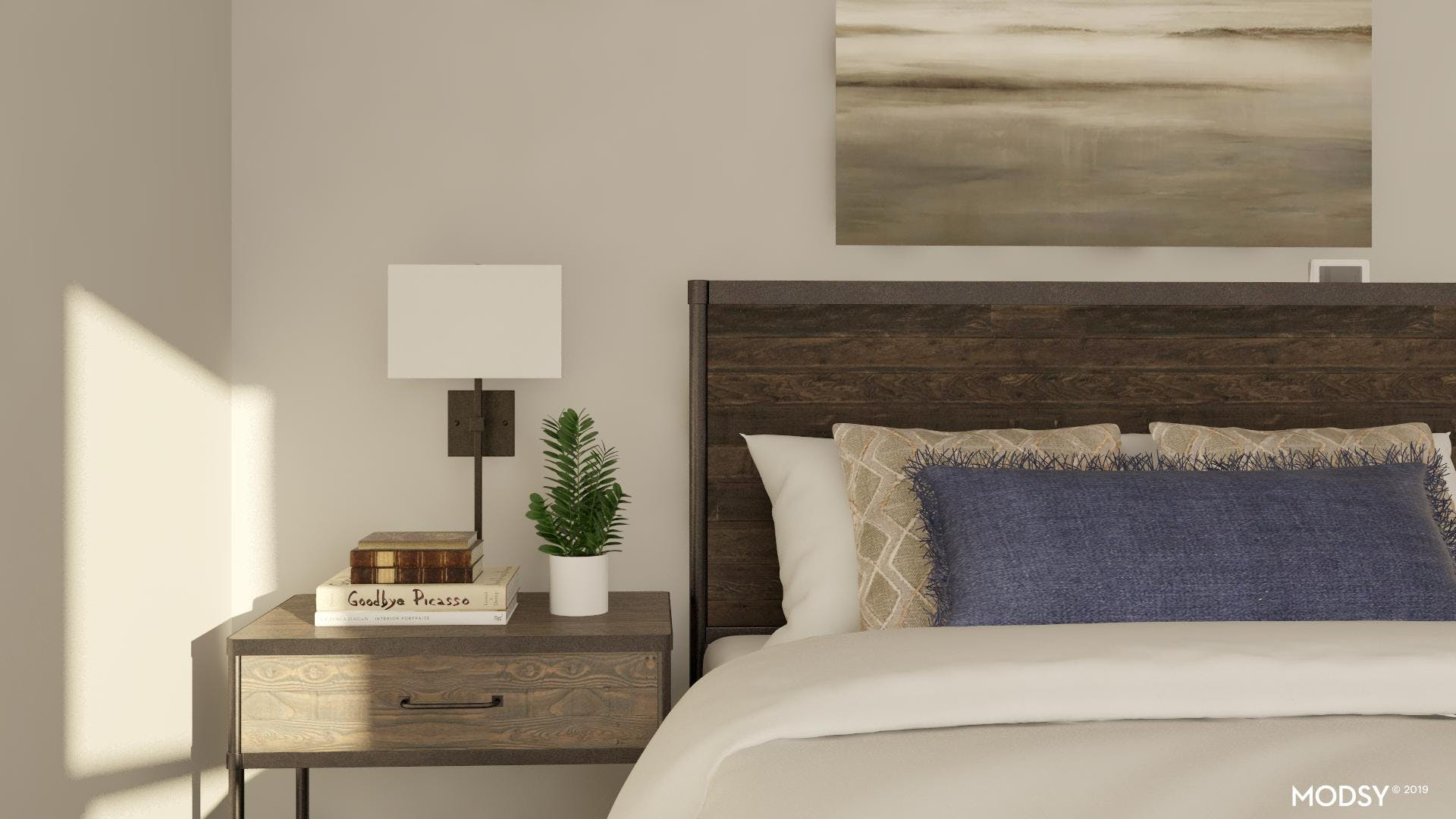 Rustic Bedroom with an Industrial Edge
