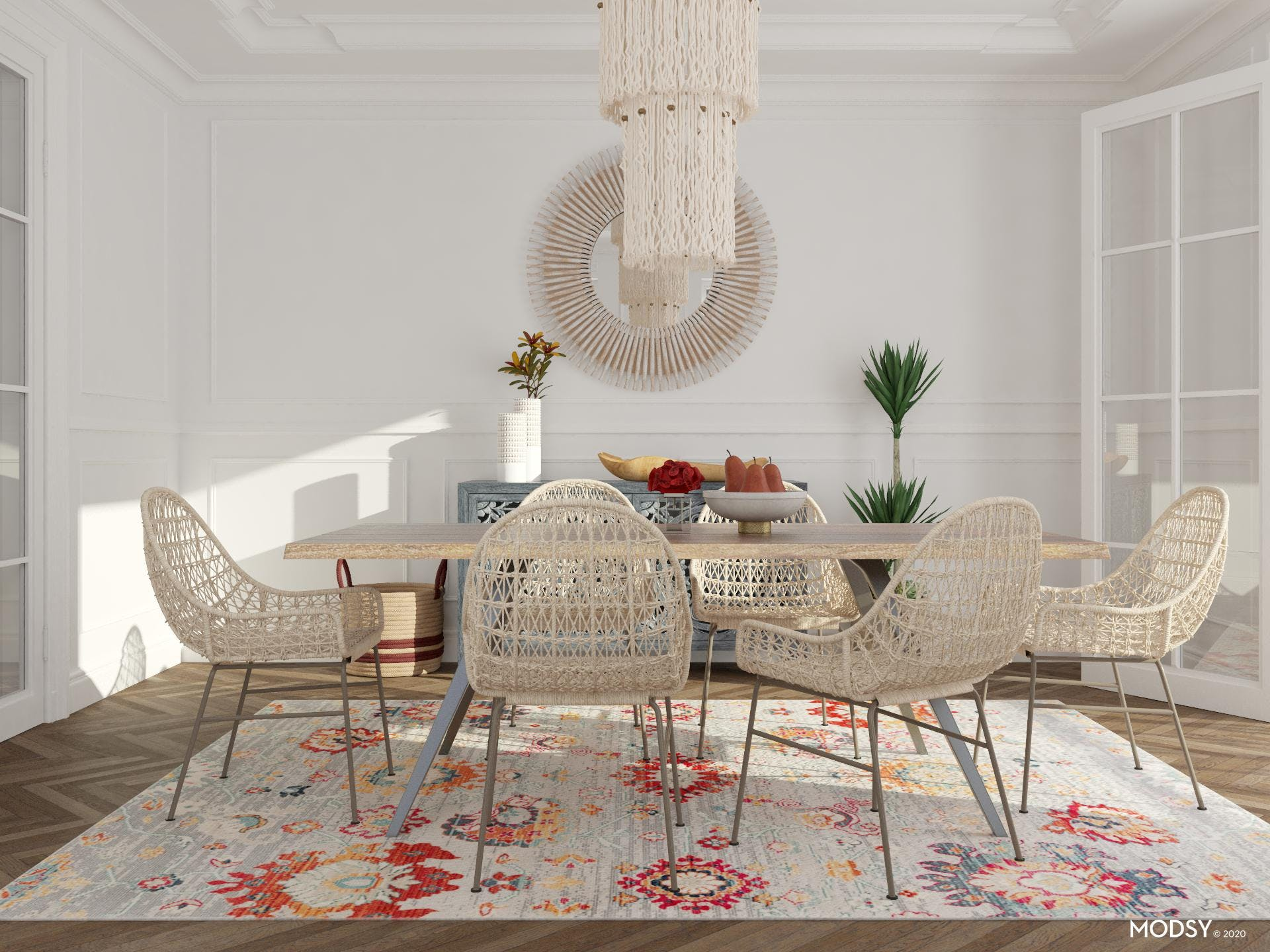 Boho Dining Room With Fall Injection