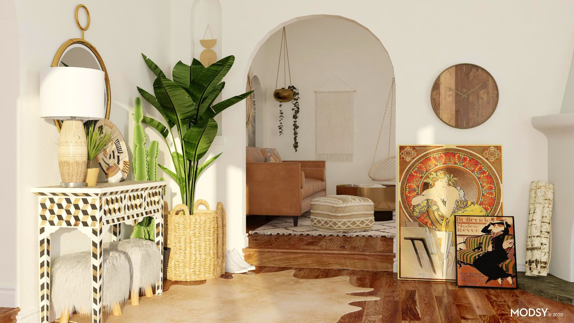 An Eclectic Earth-Toned Entryway