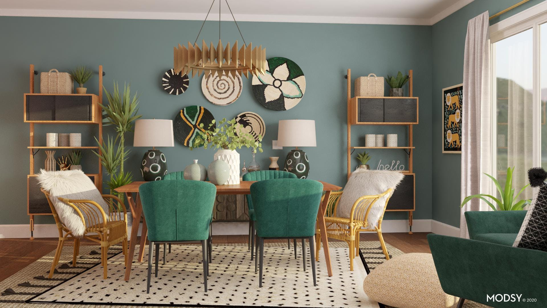A Welcoming Eclectic Dining Room