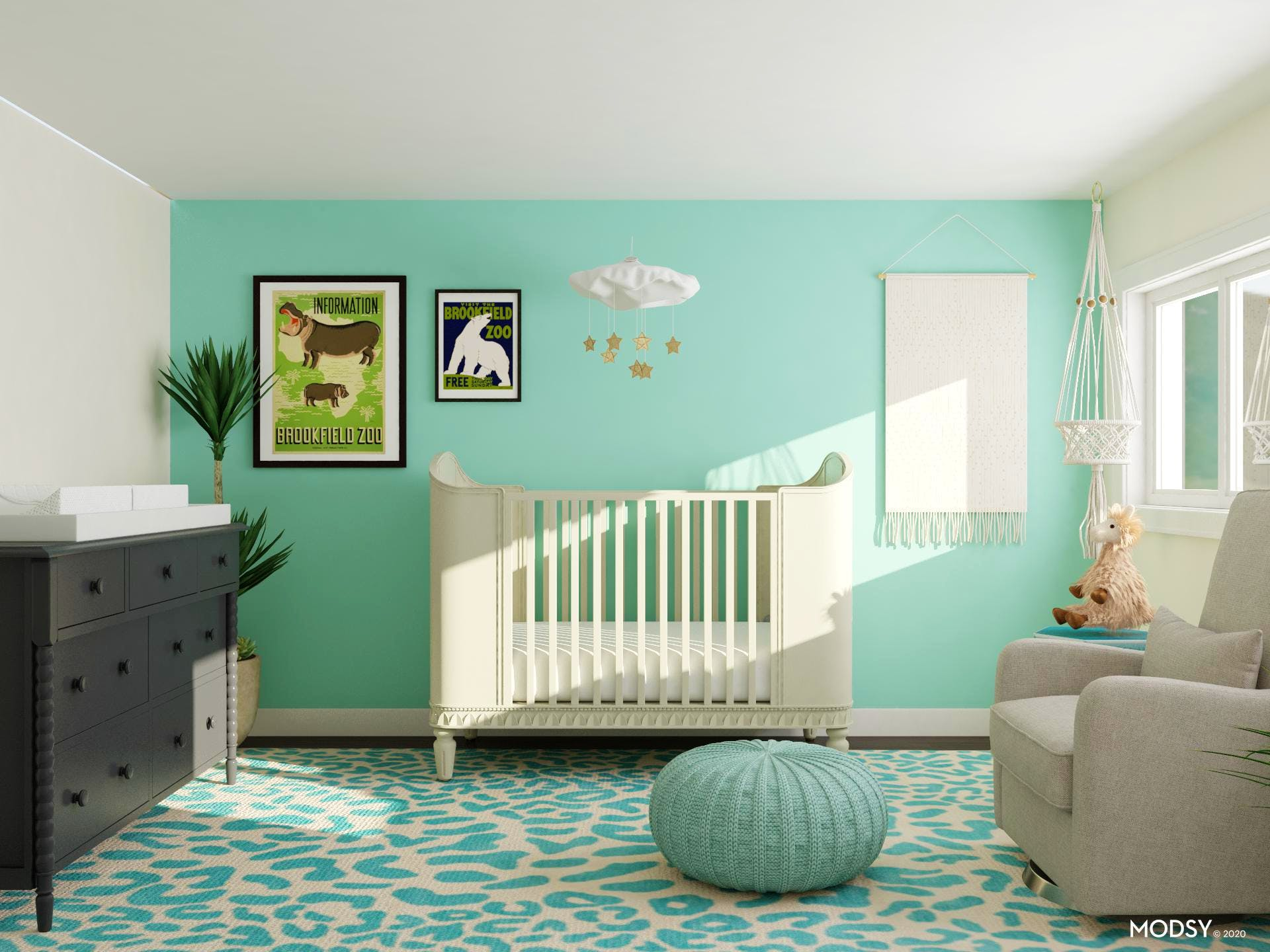 Magic Mint in Mid-century Modern Nursery