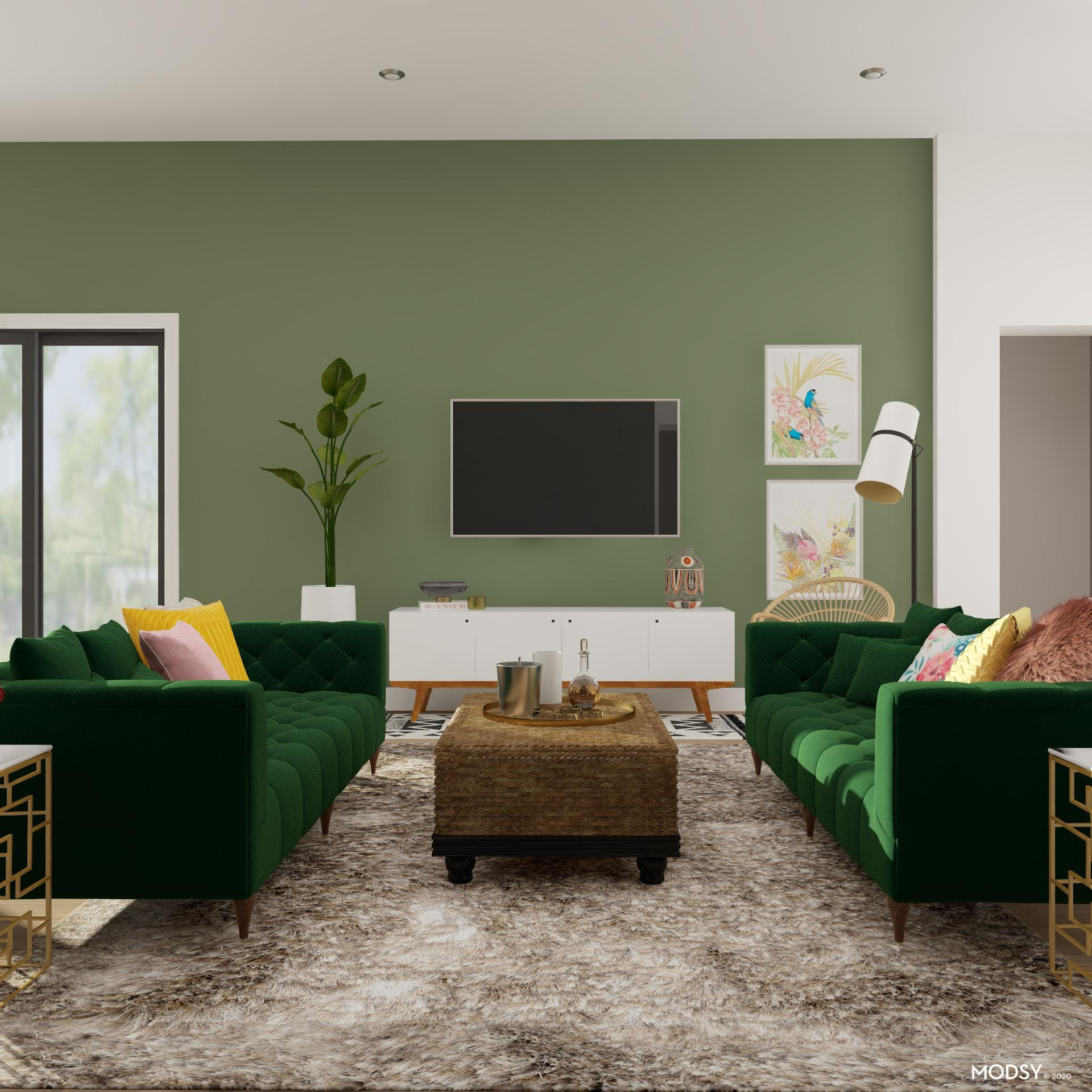 Green With Envy: Eclectic Living Room