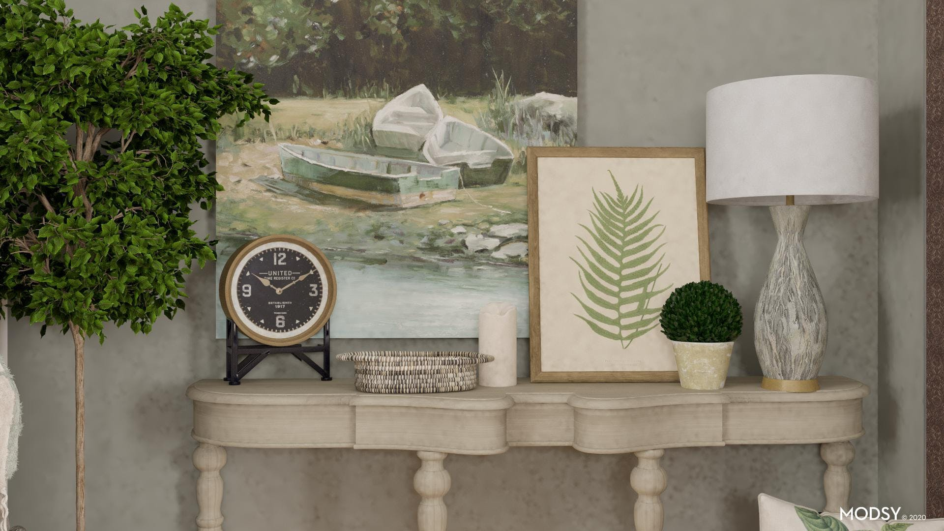 Decorating your Rustic Console