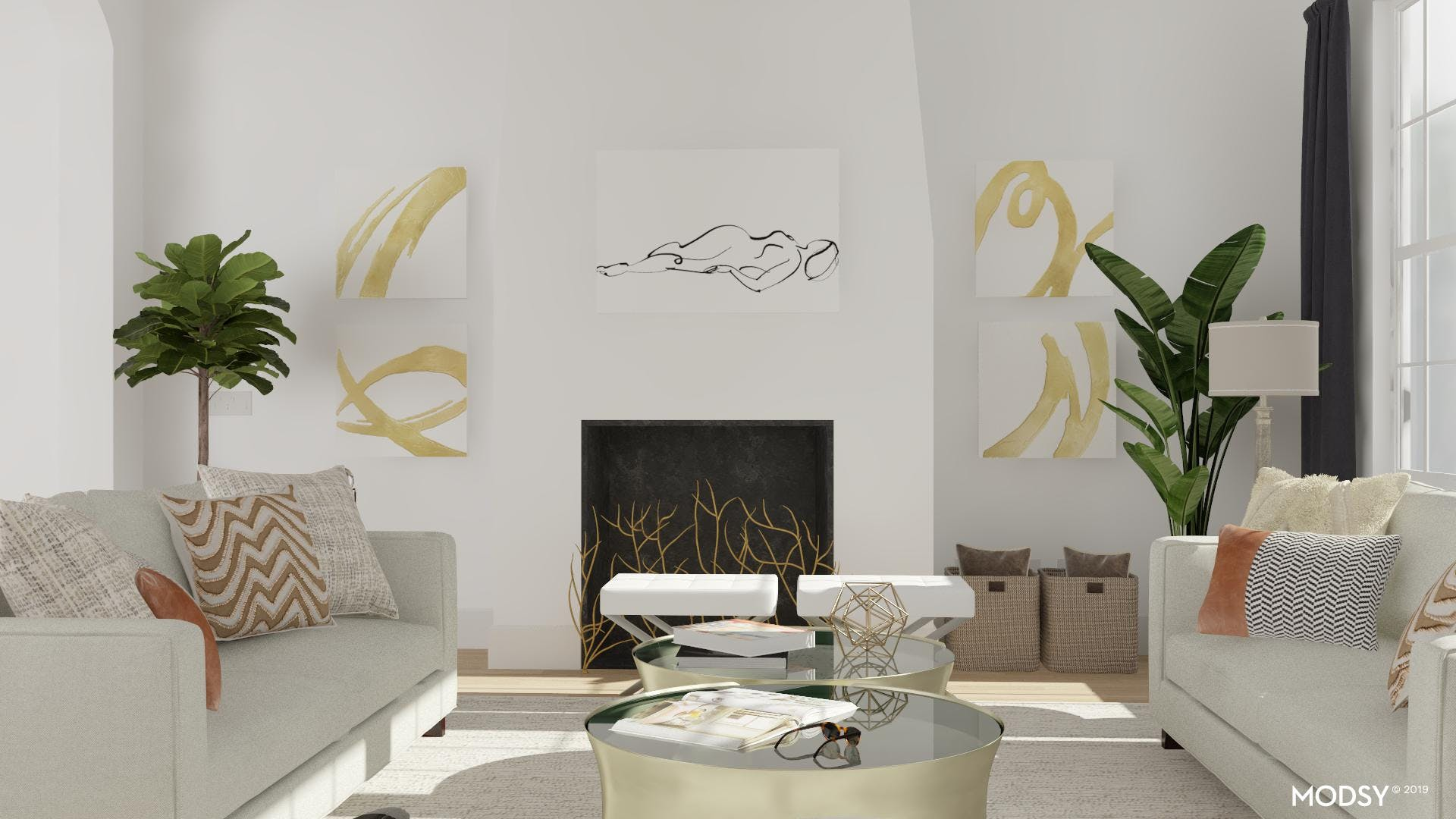 Bold Gold With A Neutral Palette