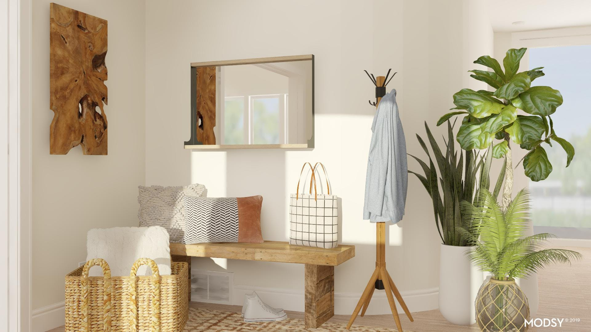 Effortless Entry with Rustic Neutrals