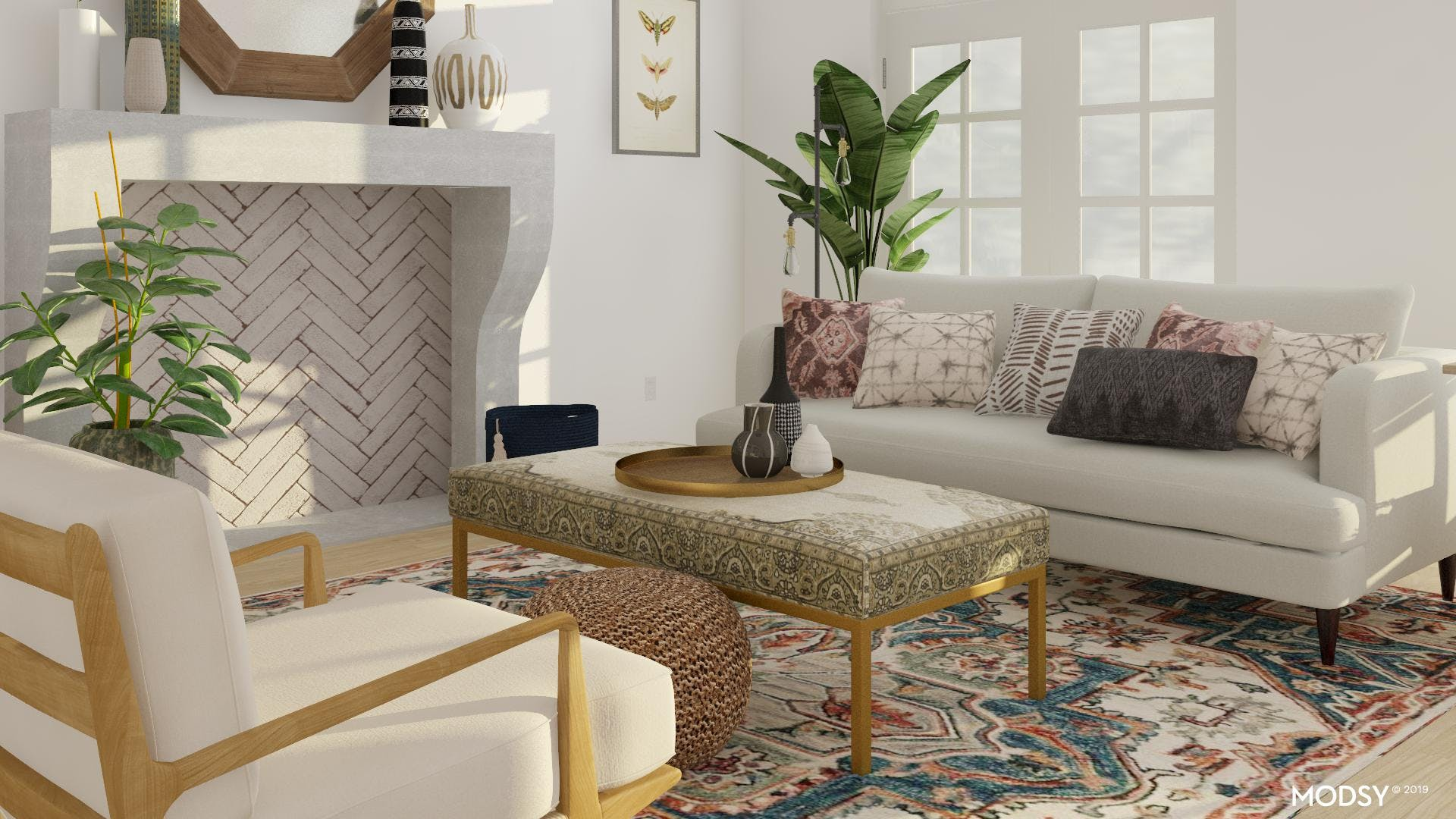 Subtle Eclectic Living Room Accents
