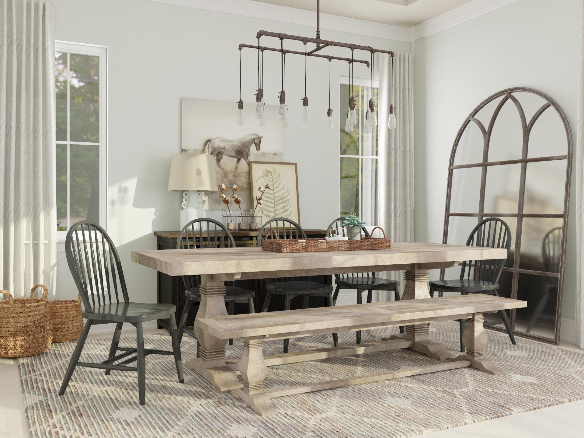 Refined Rustic Style: Dining Room Design