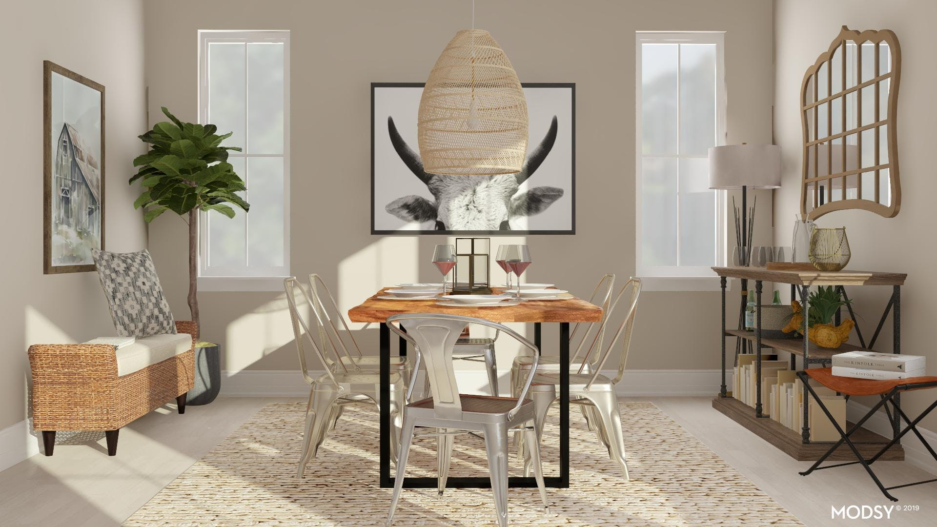 Serving Station: Rustic Dining