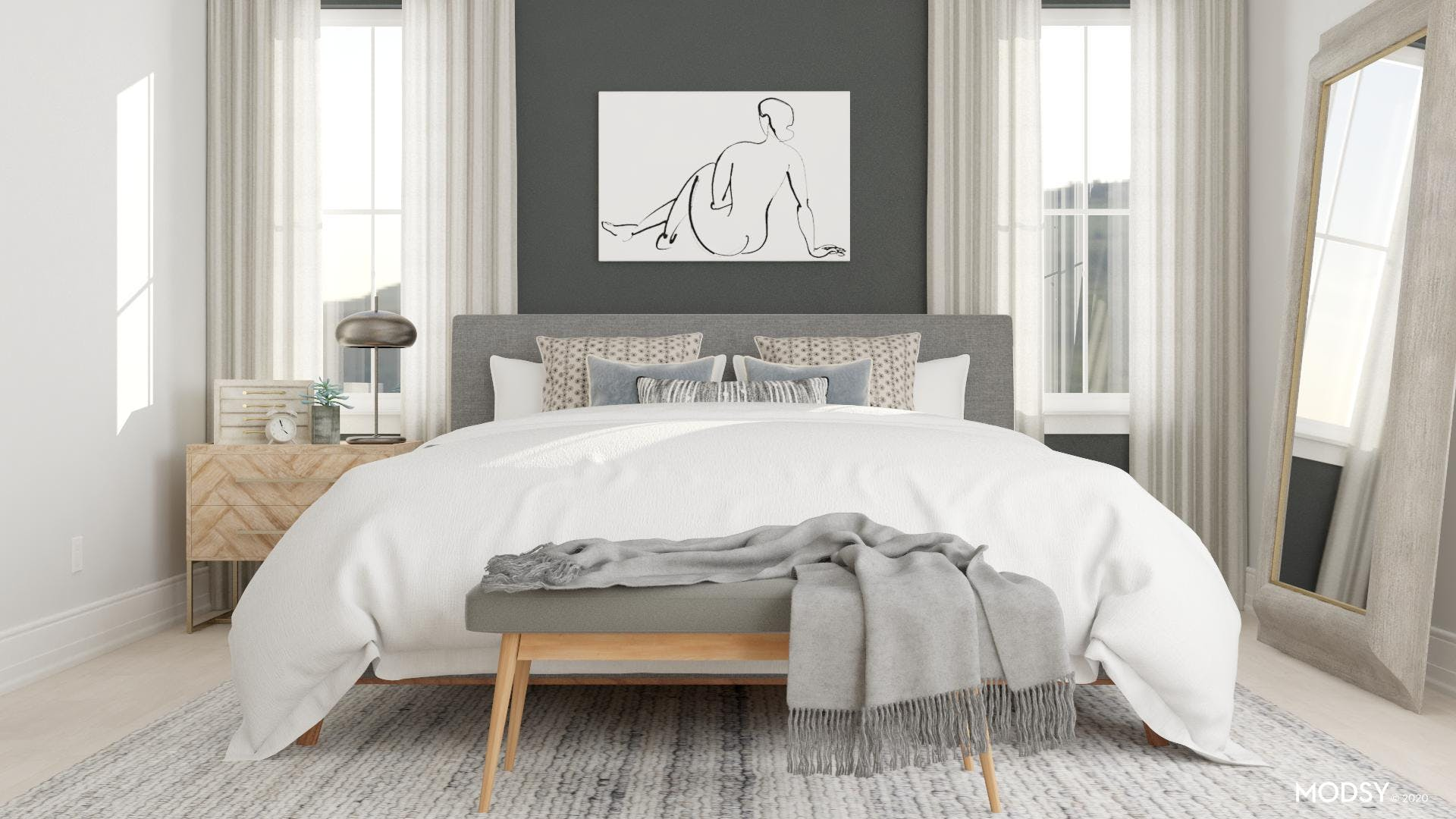 Bold But Neutral Bedroom