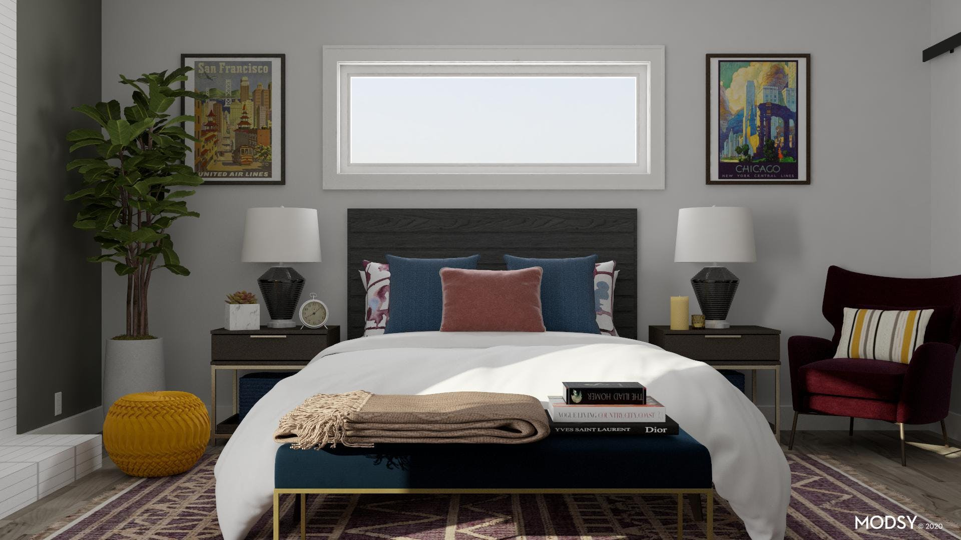 Contemporary Style With A Touch Of Jewel Tone Colors
