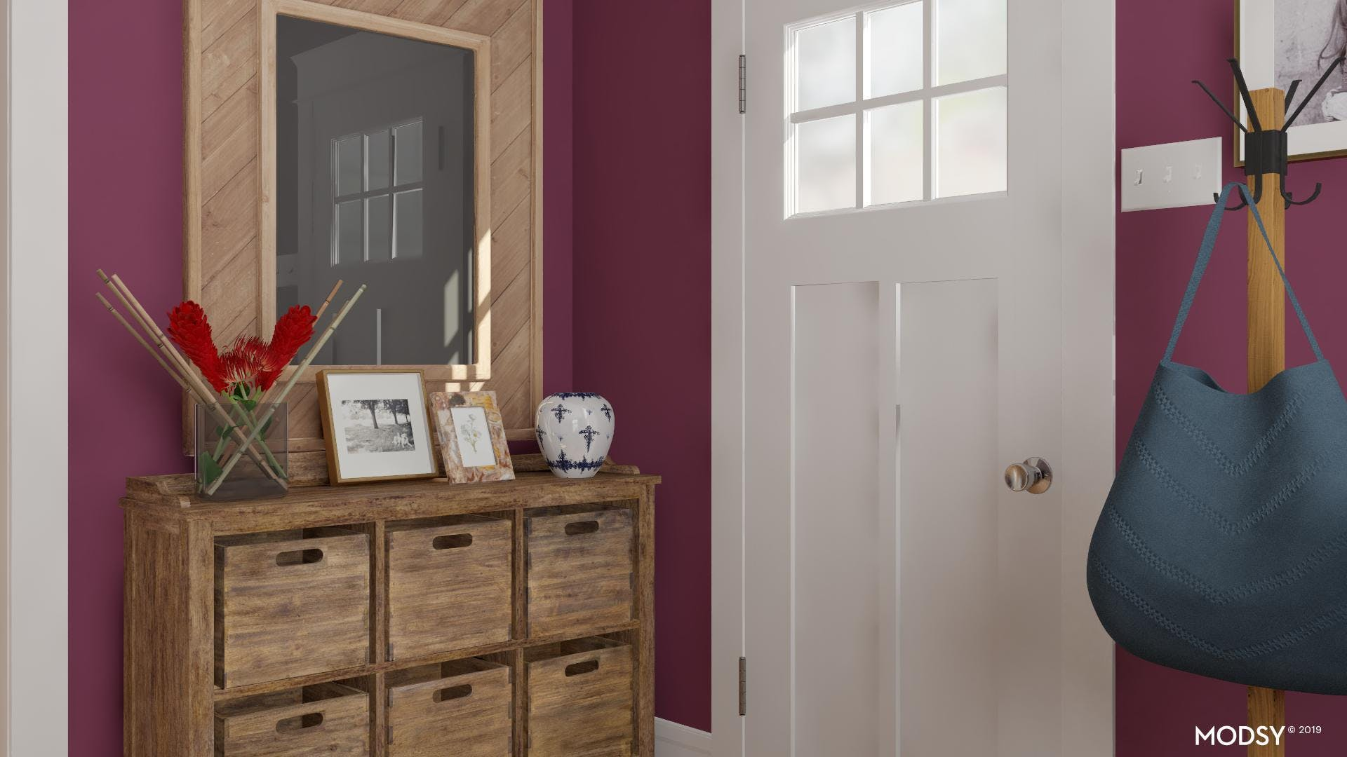 Jewel Colors For A Rustic Entry