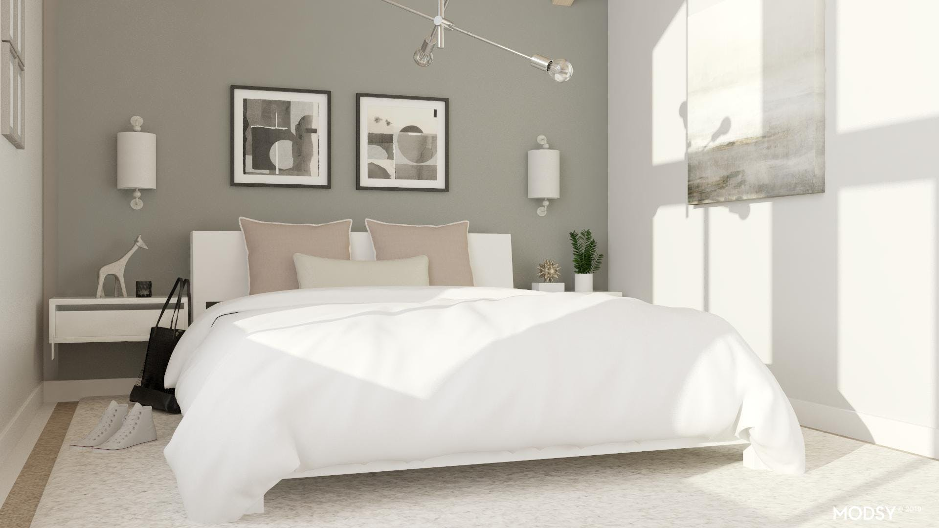 Neutral Bedroom: Grey Accents