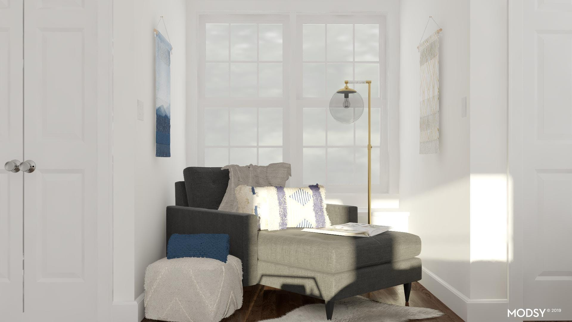 Natural Textures In A Mod Cozy Nook