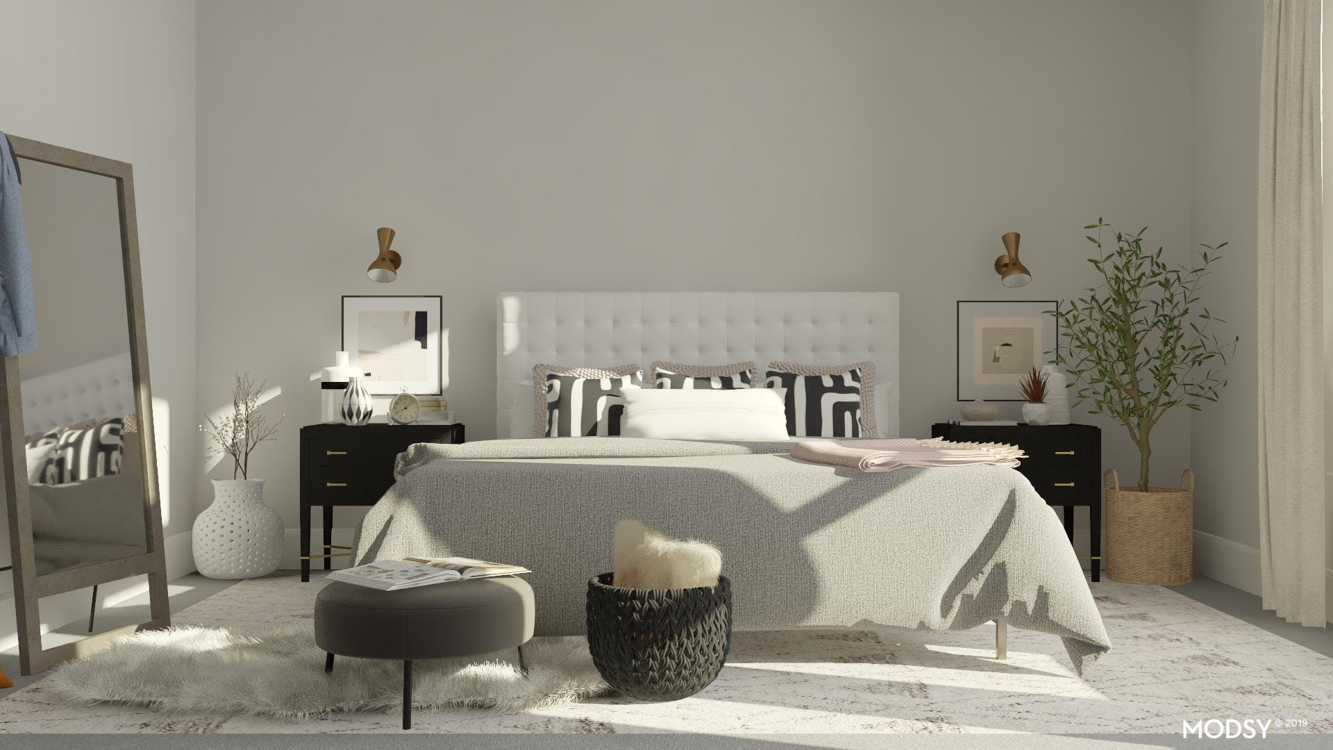 Download Modern Bedroom Design Ideas Black And White  Pictures
