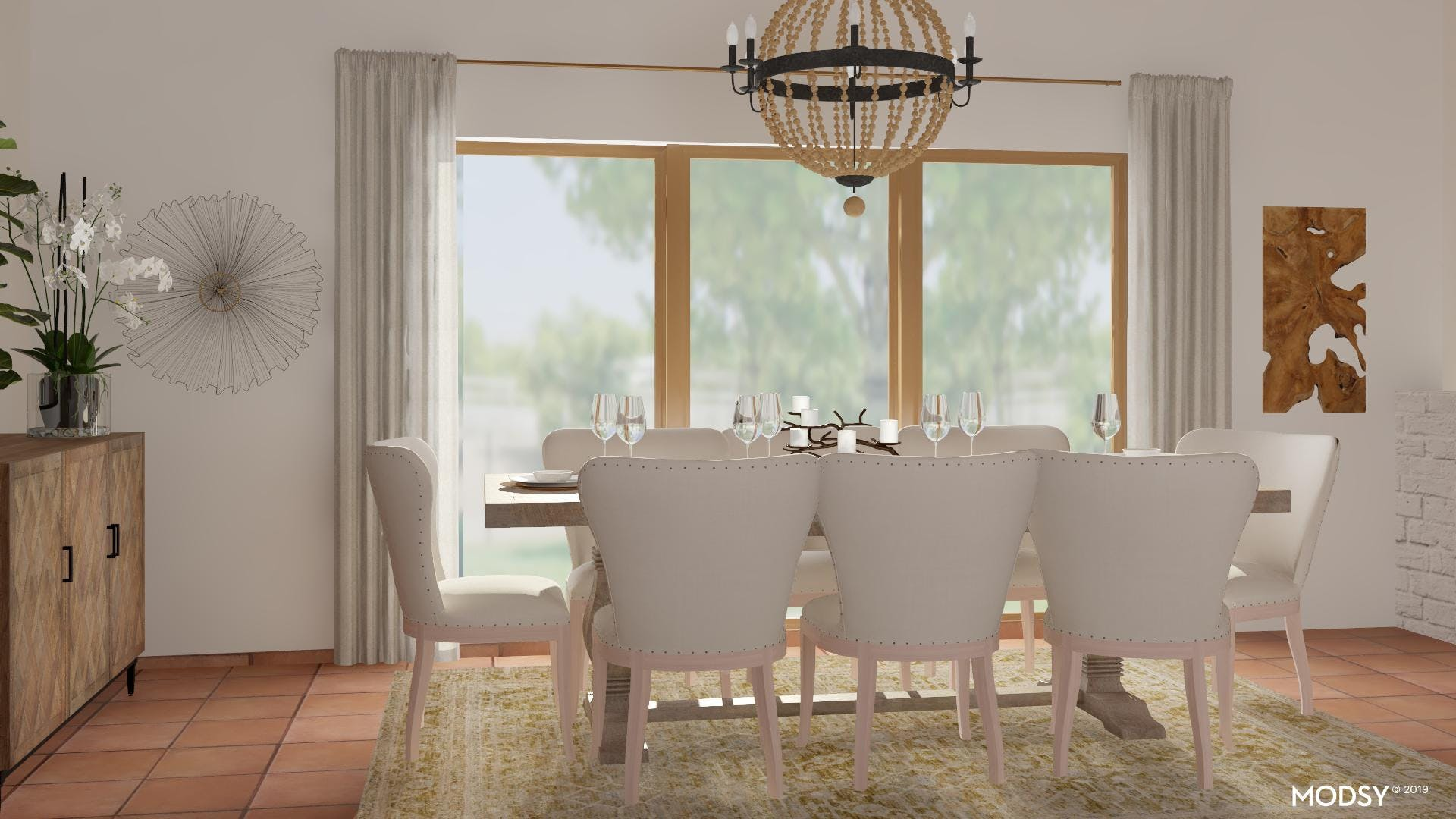 No Fuss Neutral Dining Room