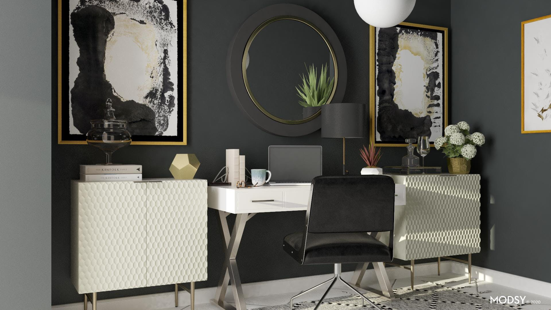 Black, White and Glam Go Together
