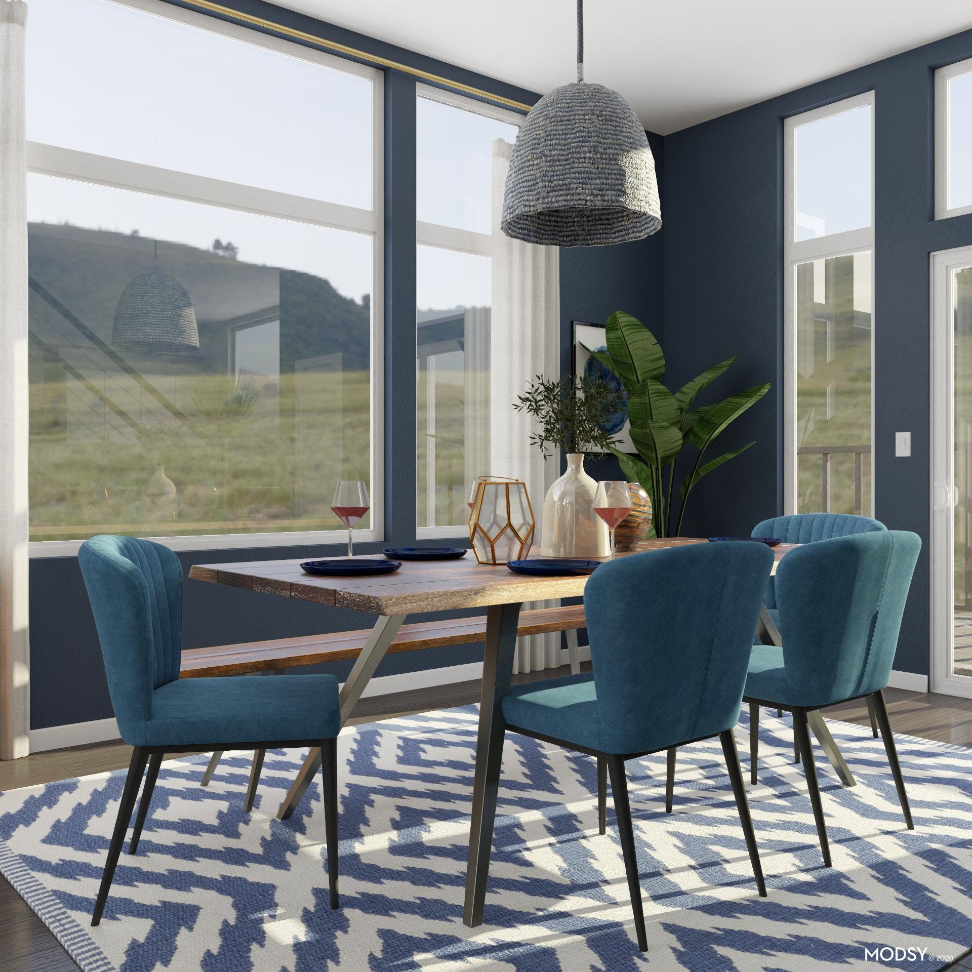 Eclectic Blue Dining