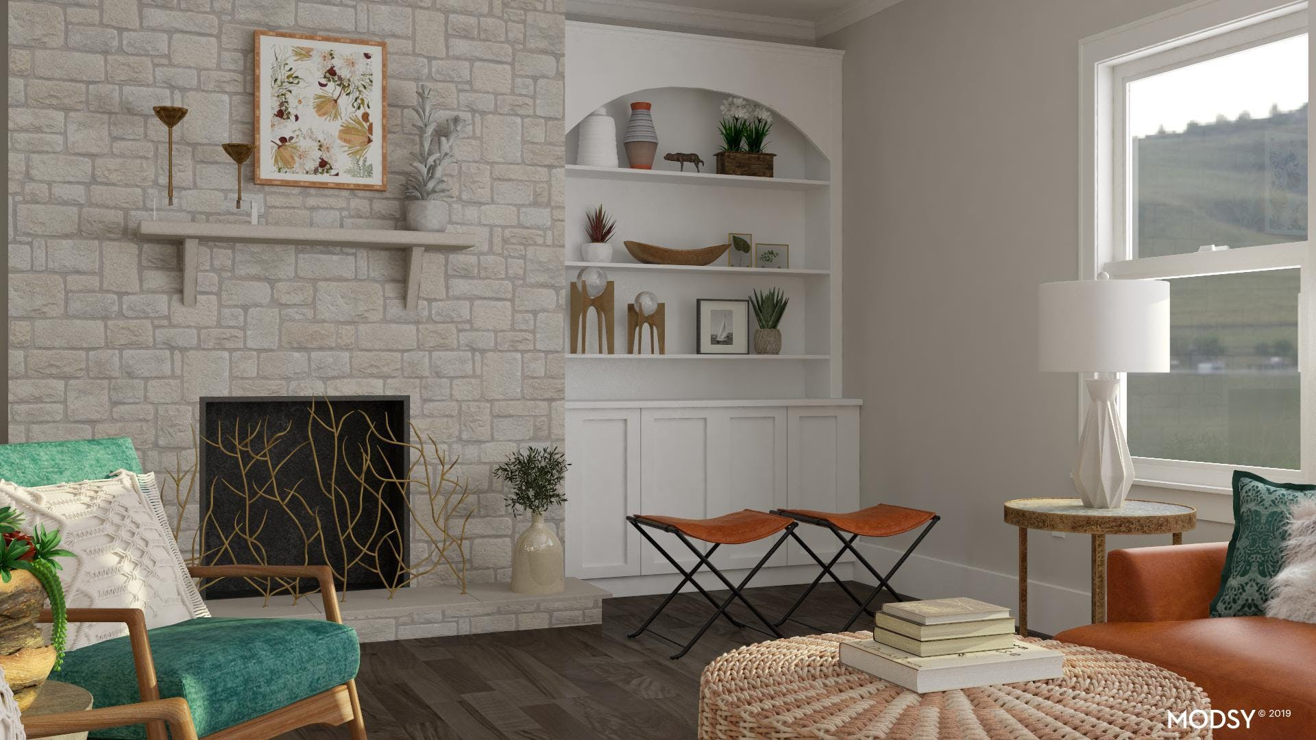 Balance it Out: Eclectic Living Room