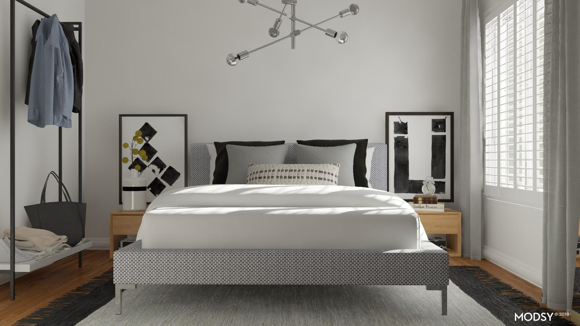 A Small Neutral Modern Bedroom