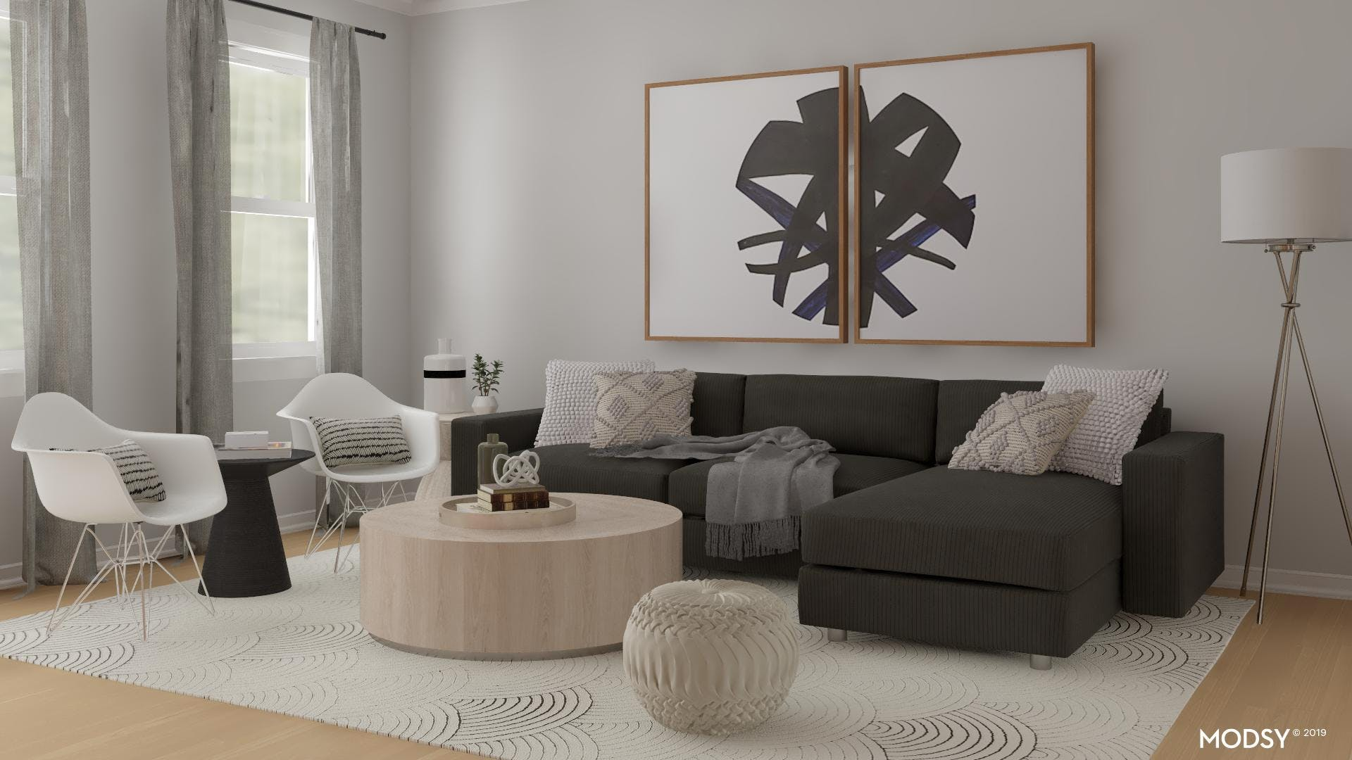 Soft Neutral Living Room Accents