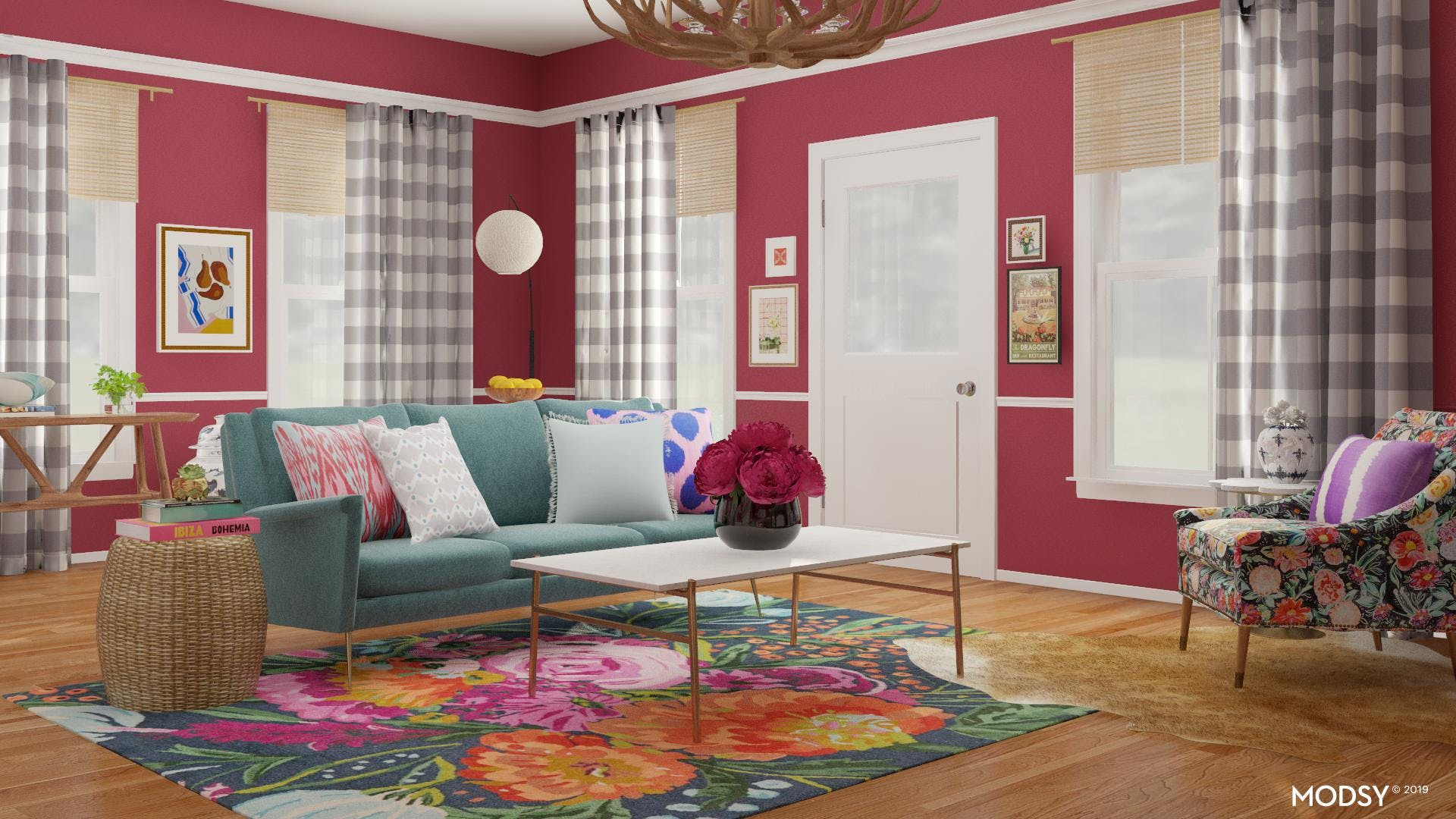 Eclectic Living Room With A Multicolor Twist!