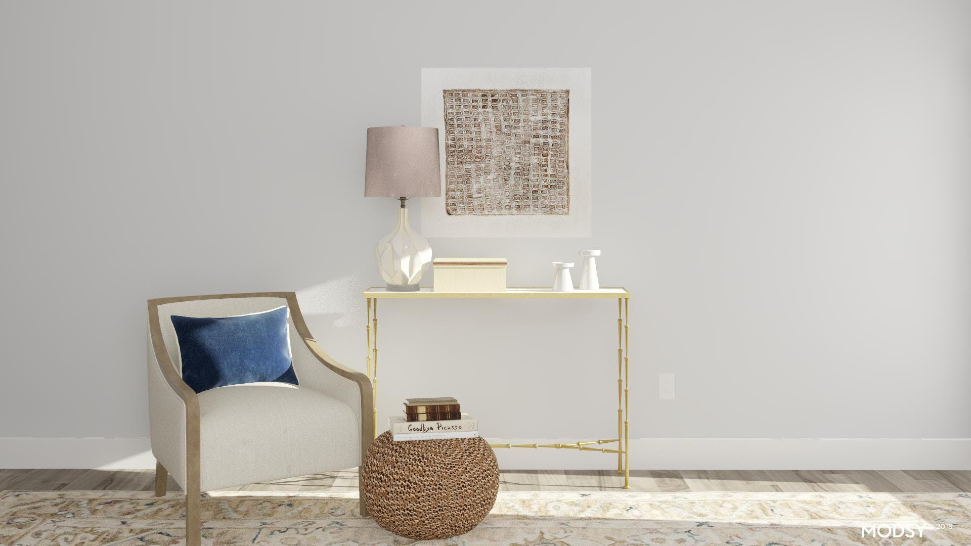 Console Table In Reading Nook