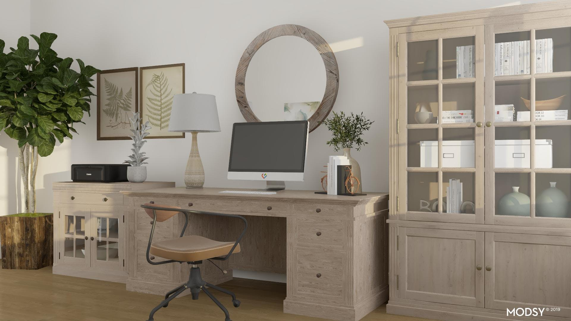Rustic Office: Storage And Display