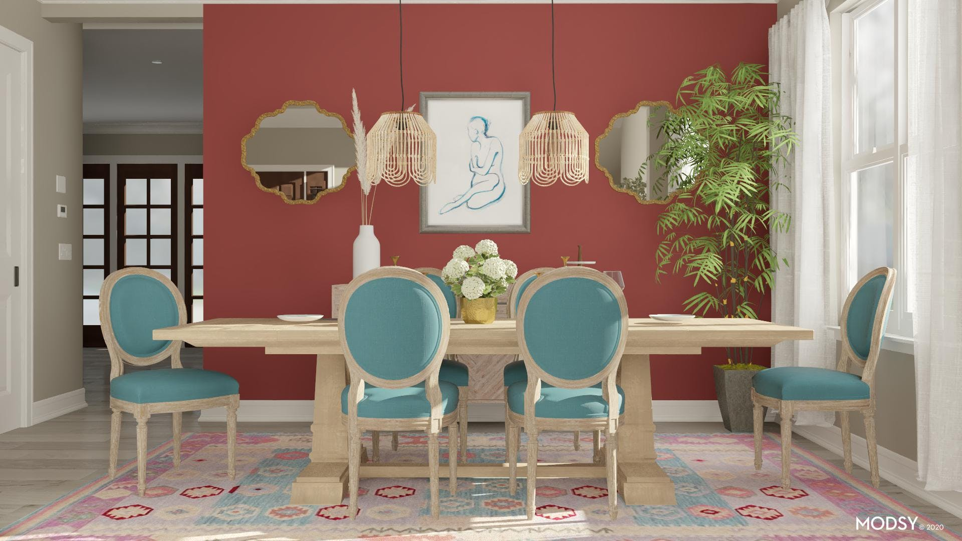 Light & Colorful Dining Room