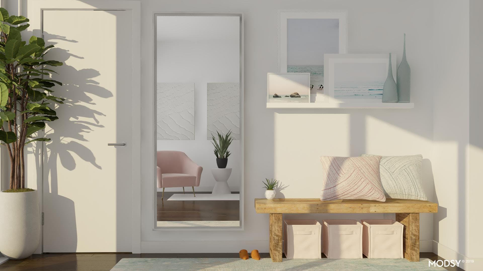 Pastel Entry With A Modern Design