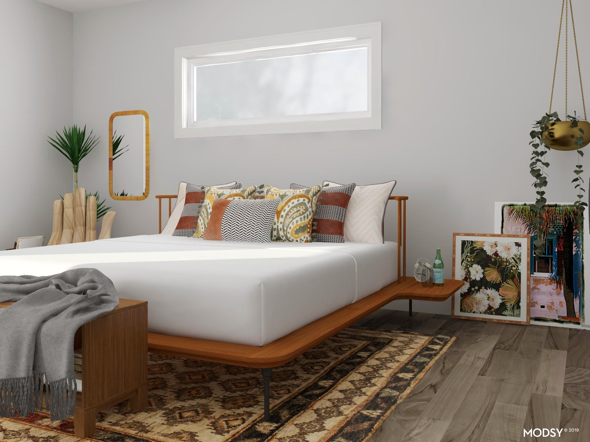 Earth Tones For Days: Bedroom | Eclectic-Style Bedroom ...