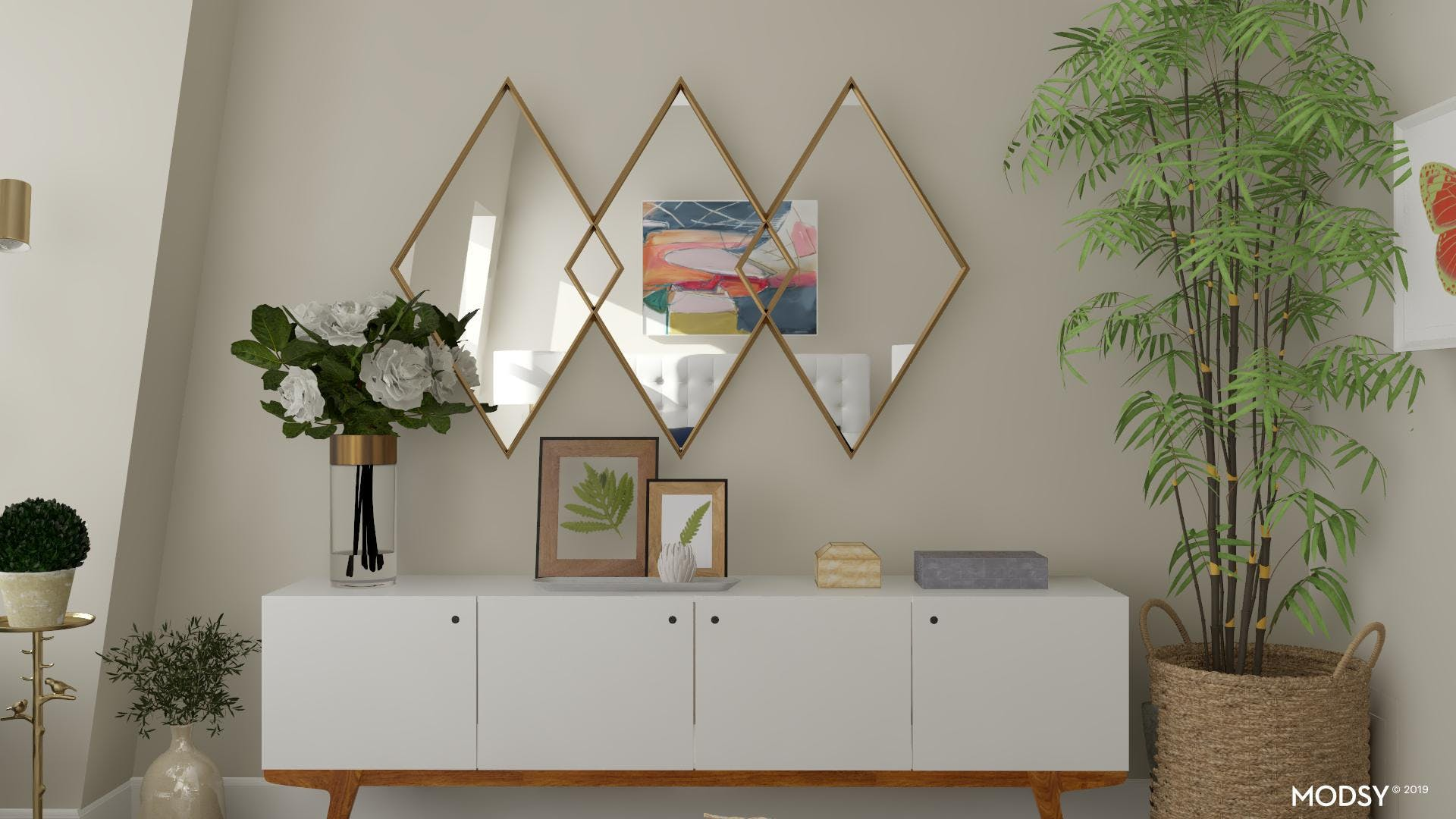 A Bedroom Console with Sparkle and Glam