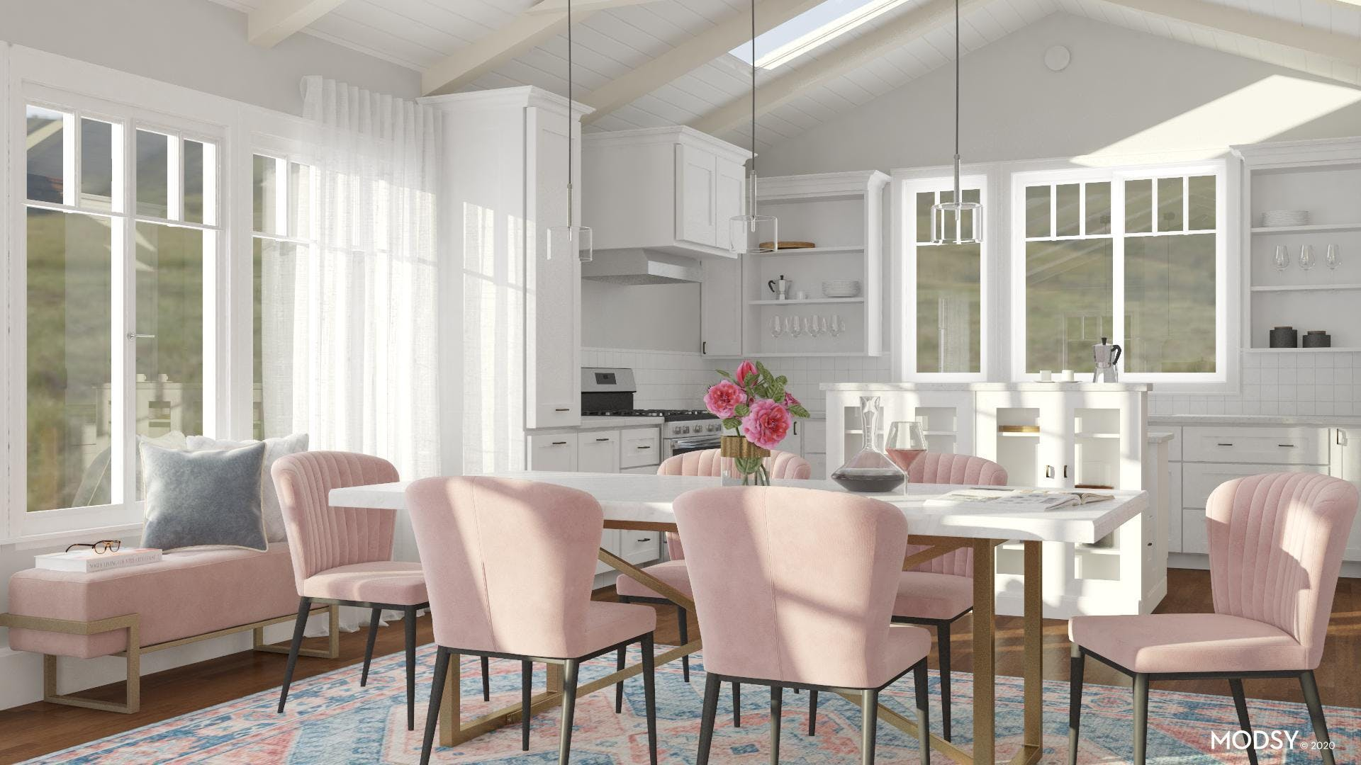 Dining Room In Pink? Yes Please!