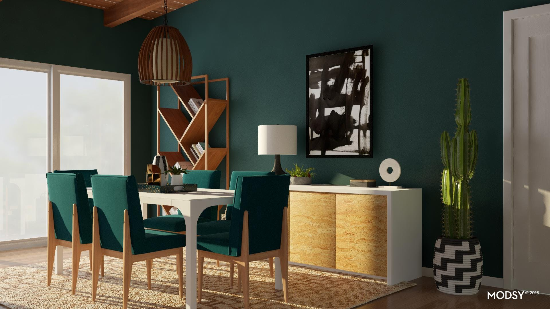 Play With Contrast In Your Dining Room