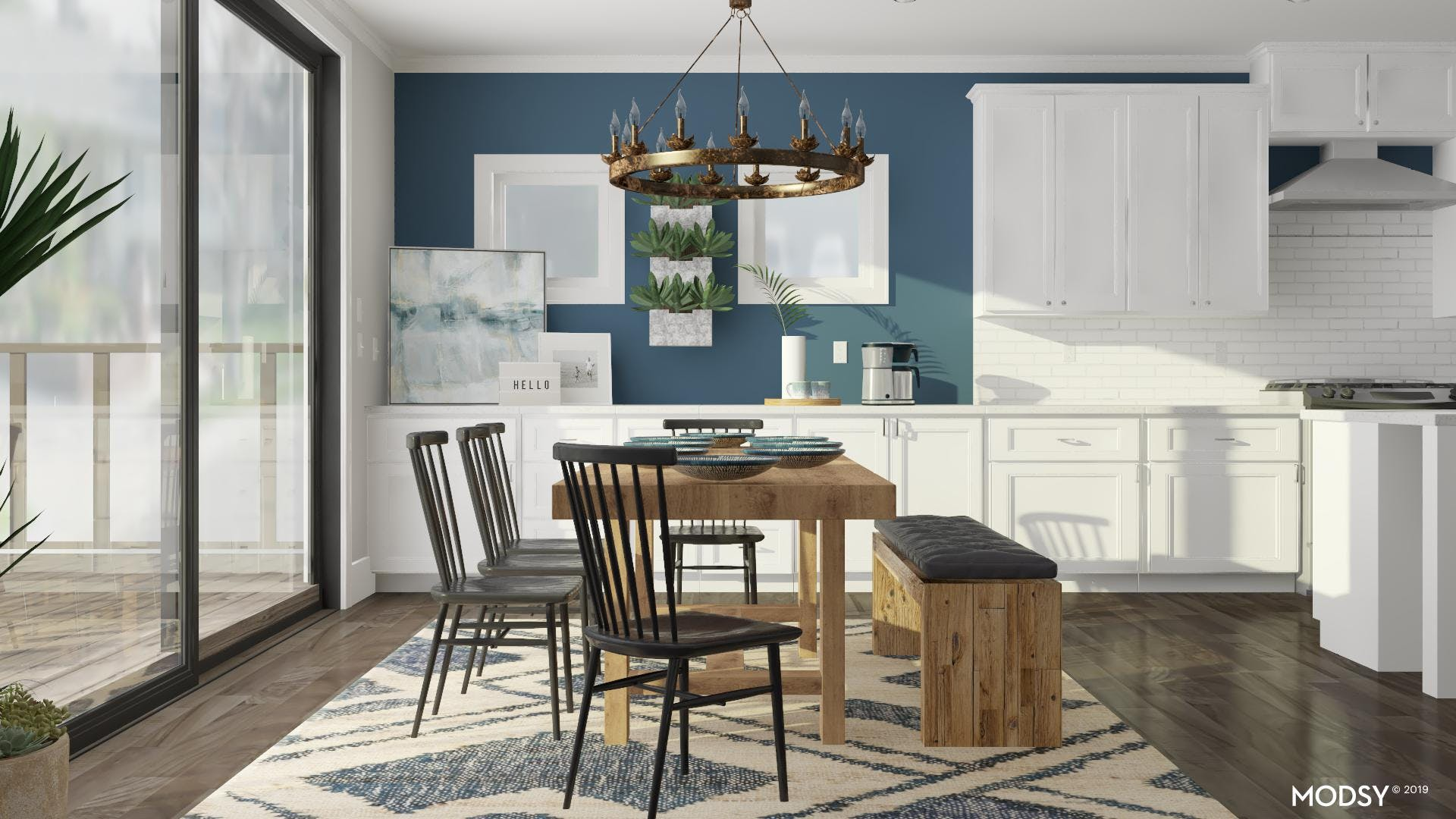 Updated Rustic Dining Room