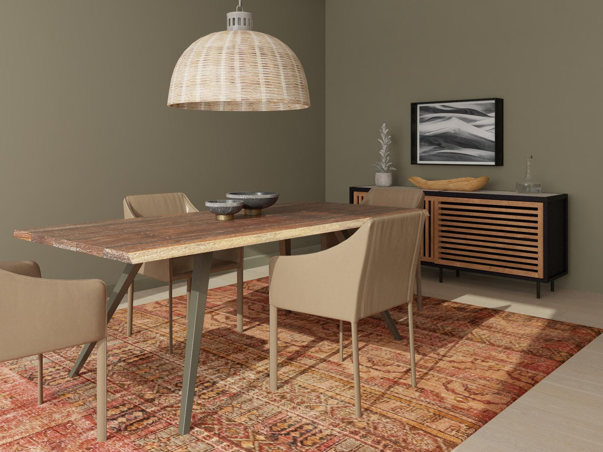 Stylish and Inviting Dining Room