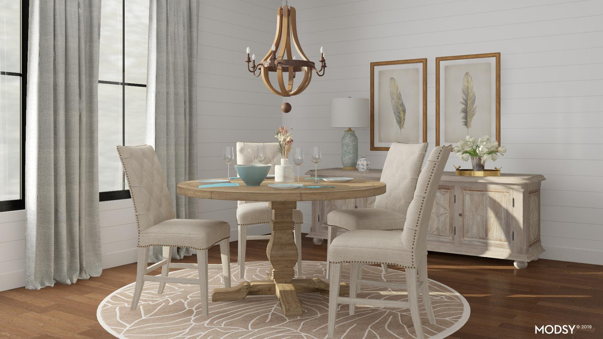 A Dining Room with Rustic Elegance