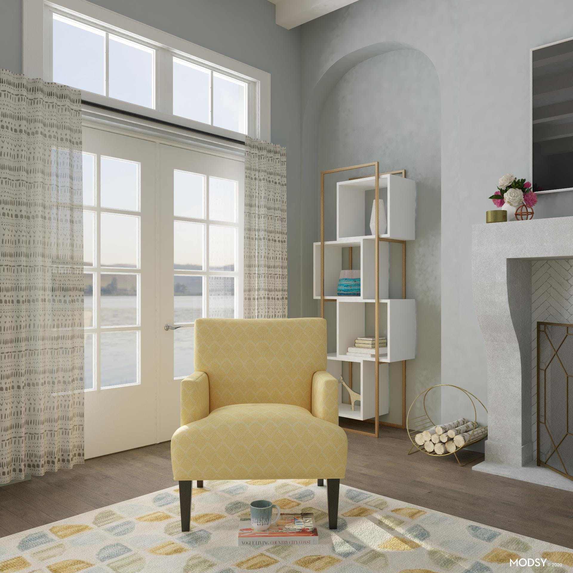 Bright And Lively TV Room