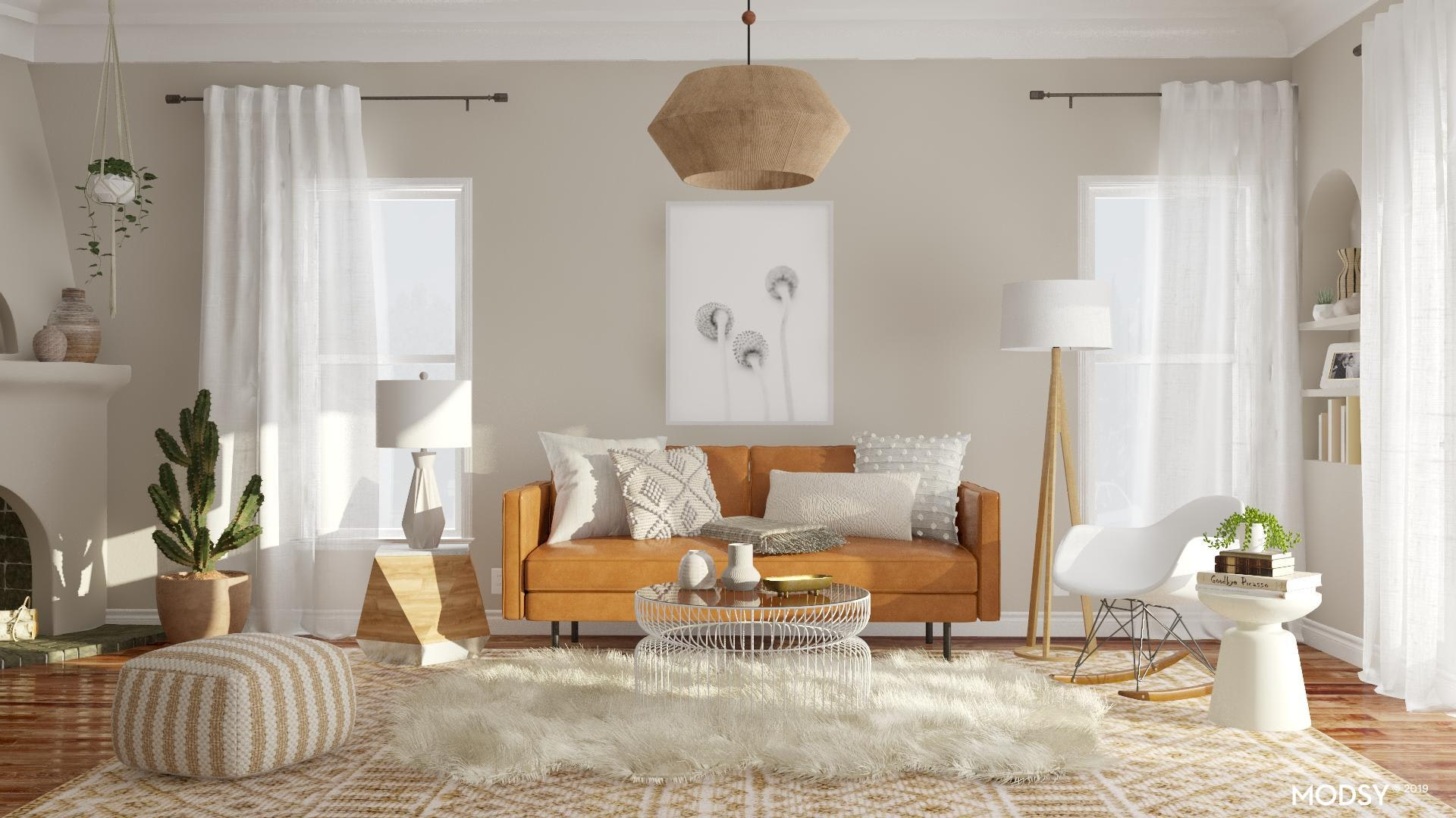 A Cozy Boho Lounge Eclectic Style Living Room Design Ideas