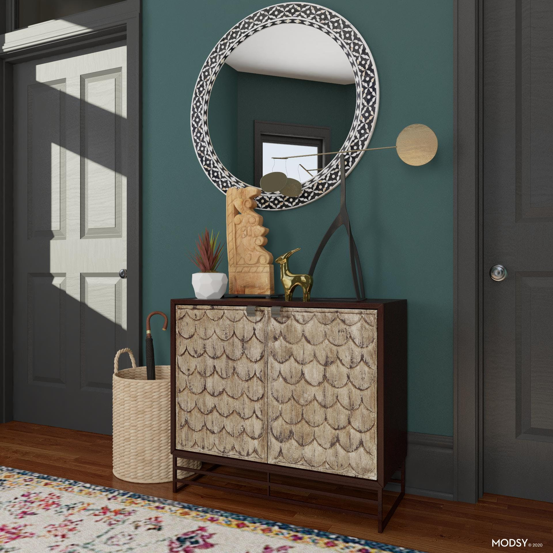 One Of A Kind Entryway Storage