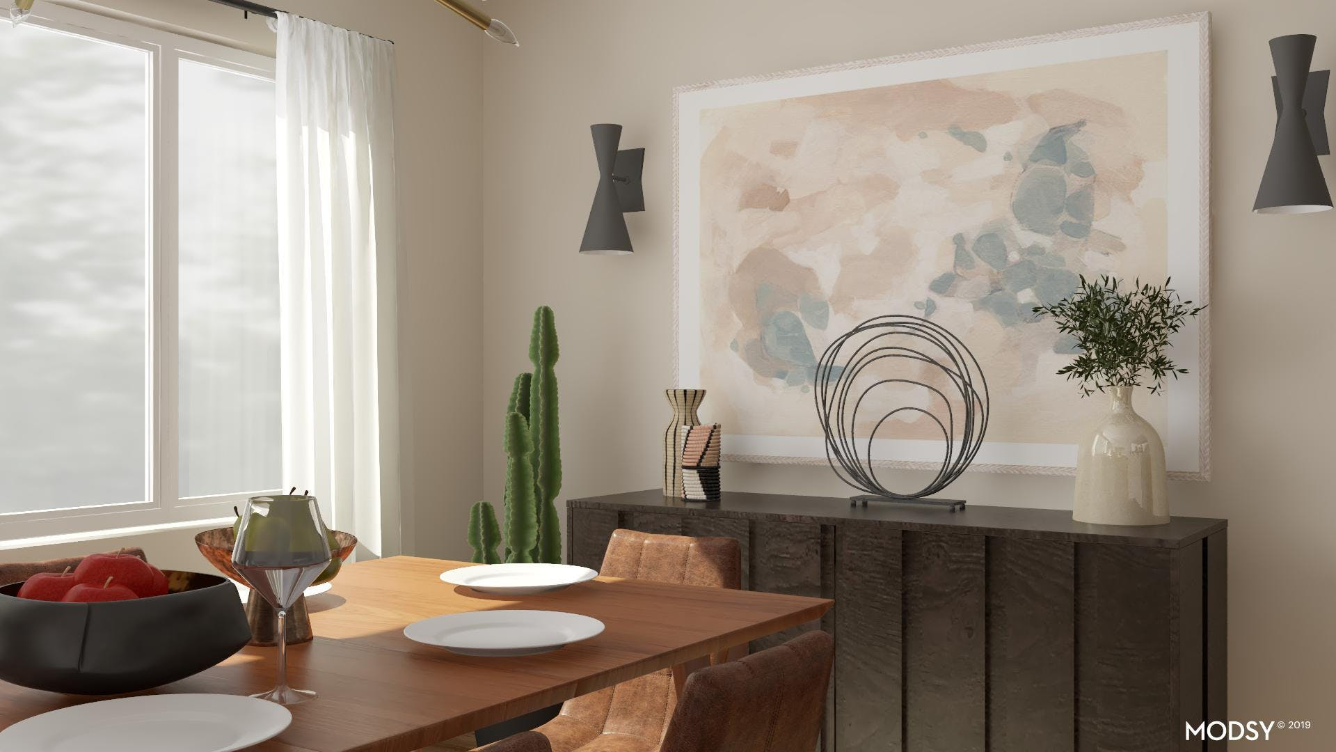 Art With Impact: A Modern Dining Room
